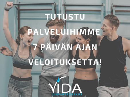 TUTUSTU 7 PÄIVÄÄ VELOITUKSETTA!