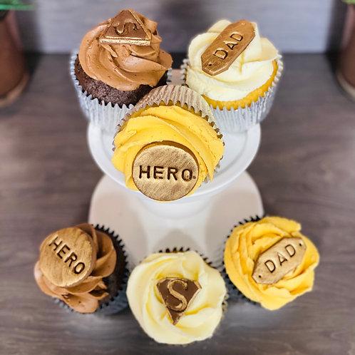 Super Hero Cupcakes - box of 6
