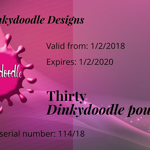 Dinkydoodle Gift Vouchers