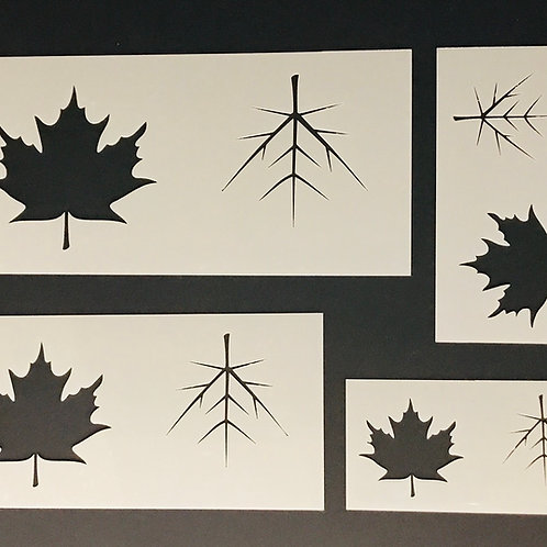 Multi- size maple leaf