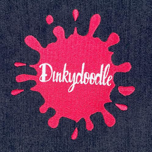 Dinkydoodle logo denim apron