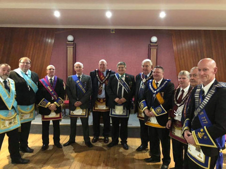 Last night our RWM accompanied by some of the office bearers of Lodge 60 attended Lodge Torrie 1141