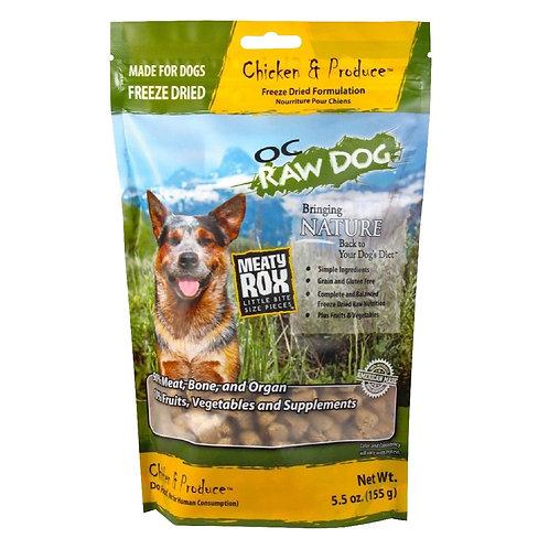 OC Raw Dog Freeze Dried Meaty Roxx 5.5oz