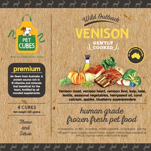 Pet Cubes Complete Venison Premium