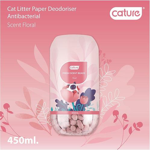 Cature Paper Litter Deodoriser - Floral Scent (450ml)