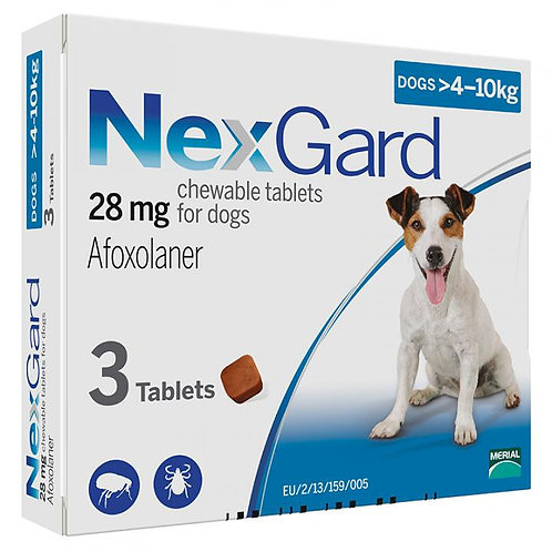 NexGard 4-10kg 3 Tablets