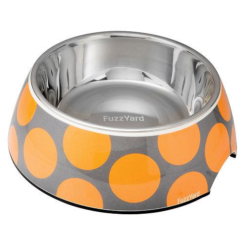 FuzzYard Bubblelicious Easy Feeder Pet Bowl -Orange