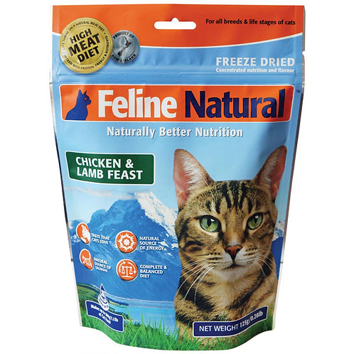 Feline Natural Freeze Dried Chicken & Lamb Feast