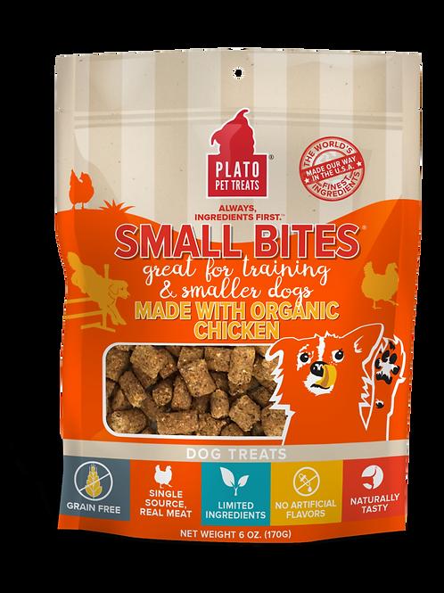 Plato Small Bites Made With Organic Chicken Meaty Morsel Dog Treats 2.5oz