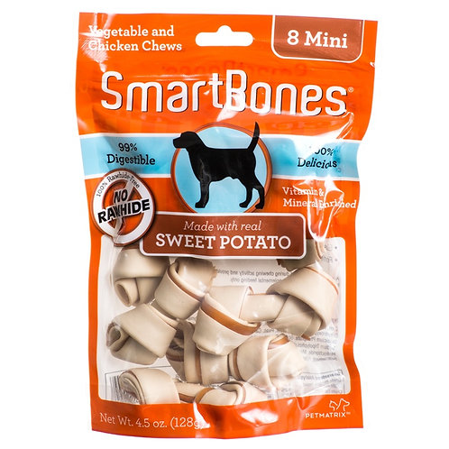 Smartbones Sweet Potato 8 mini Bones