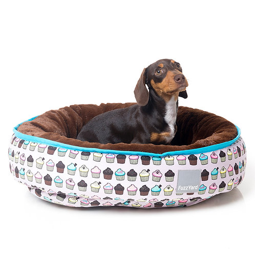 FuzzYard Reversible Dog Bed - Cupcakes