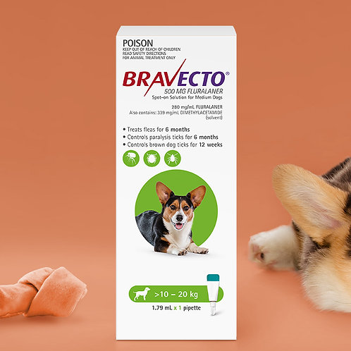 Bravecto Spot On 10-20kg