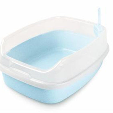 MAKAR XL Deodorized Cat Litter Box (Light Blue)