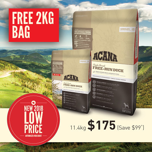 Acana Singles Free-Run Duck 11.4kg