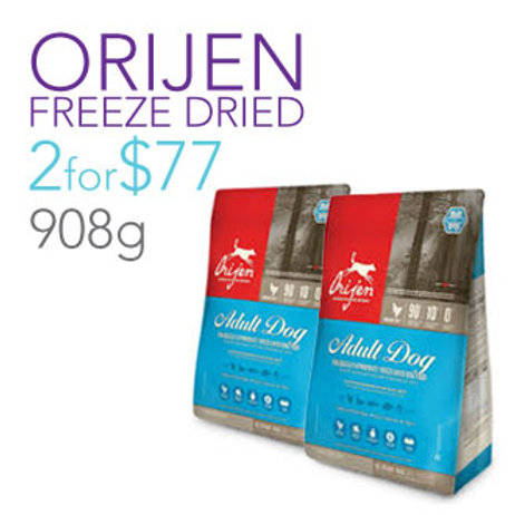 2 X Orijen Freeze Dried Adult 454g