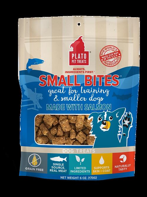Plato Small Bites Salmon Meaty Morsel Dog Treats 2.5oz