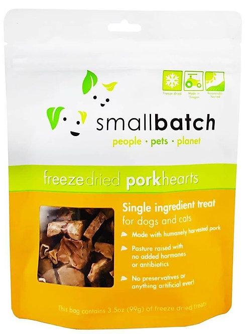 Smallbatch Pork Hearts Freeze Dried Cat & Dog Treats 3.5oz