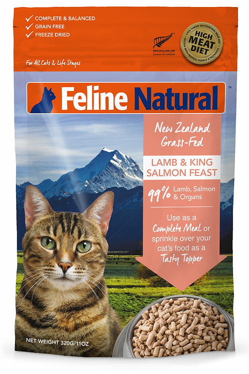 Feline Natural Lamb and King Salmon Feast 320g / 960g