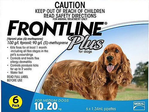 2 Boxes of Frontline Plus 6's 10-20kg