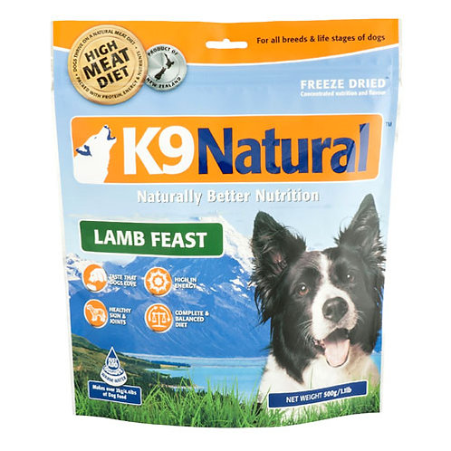 K9 Natural Freeze Dried Lamb 500g