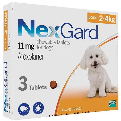 NexGard 2-4kg 3 Tablets