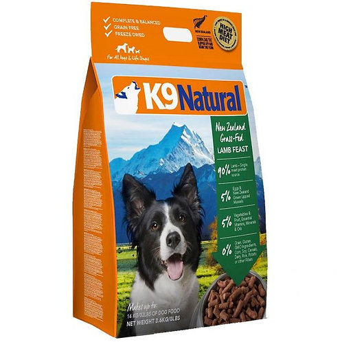 K9 Natural Freeze Dried Lamb 3.6kg