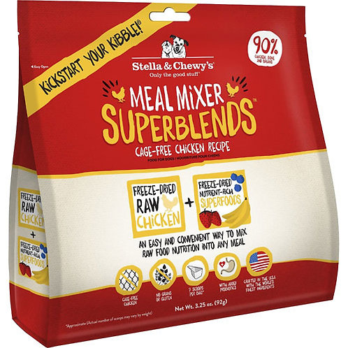 Stella & Chewy's Superblends Freeze-Dried Meal Mixer - Chicken Recipe 3.25oz