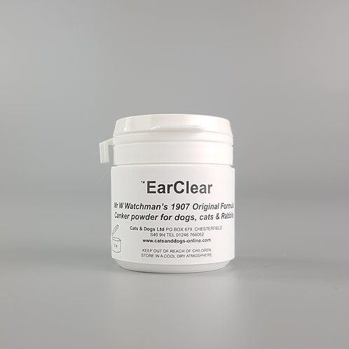 EarClear Canker & Ear Mites Powder for Dogs & Cats 20g