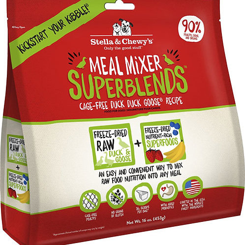 Stella & Chewy's Superblends Freeze-Dried Meal Mixer - Duck Goose Recipe 8oz