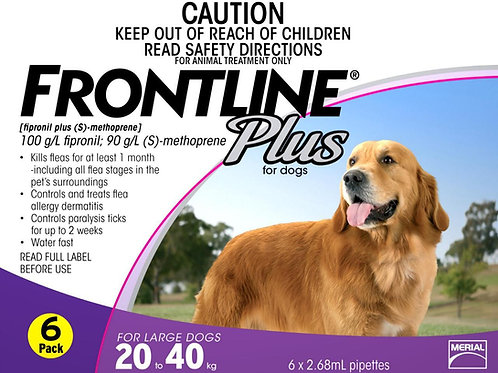 2 Boxes of Frontline Plus 6's 20-40kg