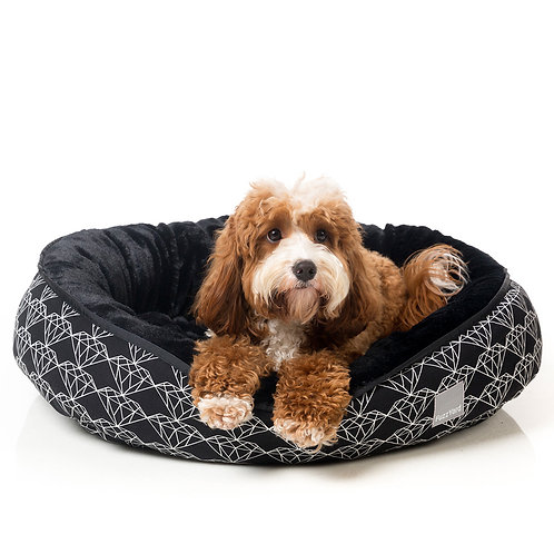 FuzzYard Reversible Dog Bed - Black Diamond