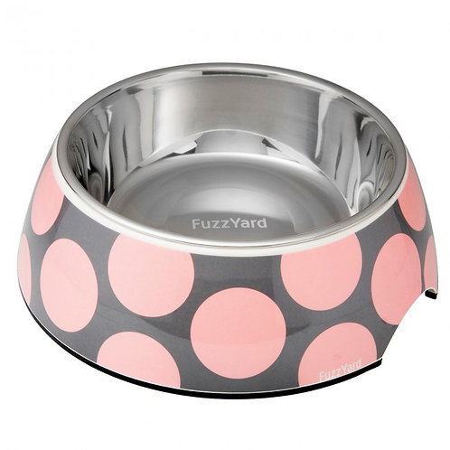 FuzzYard Bubblelicious Easy Feeder Pet Bowl -Pink