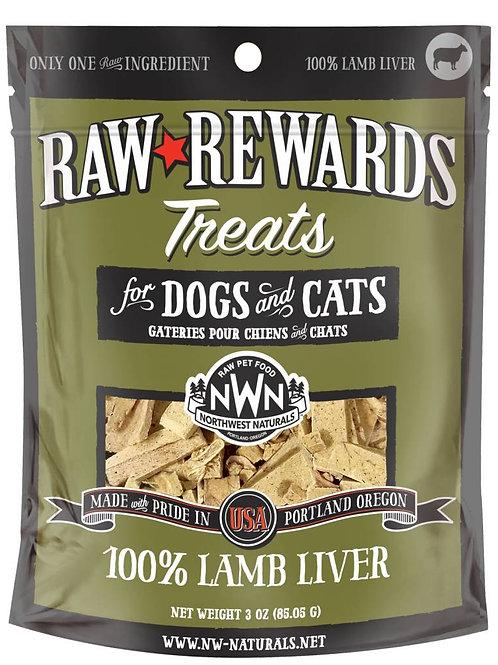 Northwest Natural Raw Rewards Freeze-Dried Lamb Liver