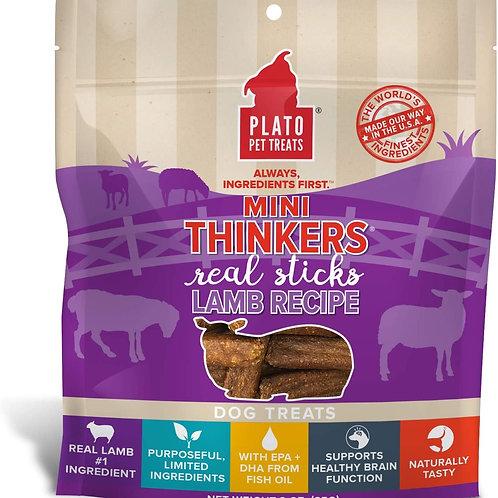 Plato Mini Thinkers Lamb Meat Stick Dog Treats 3oz