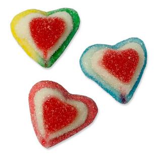 Sugared Multi 3D Hearts