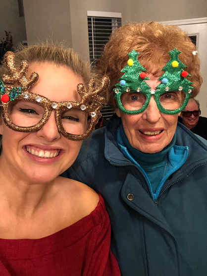 Grandma Ethel at Christmas