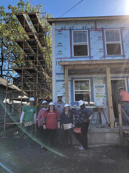 Volunteering with Habitat for Humanity in Cincinnati to build homes!