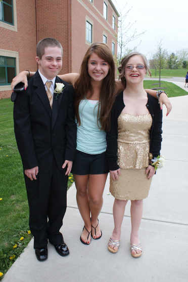 Sending Gabby and her boyfriend off to homecoming