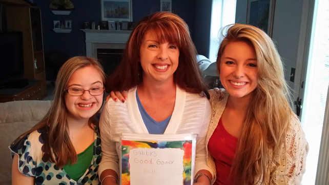 Mom, Gabby, and I