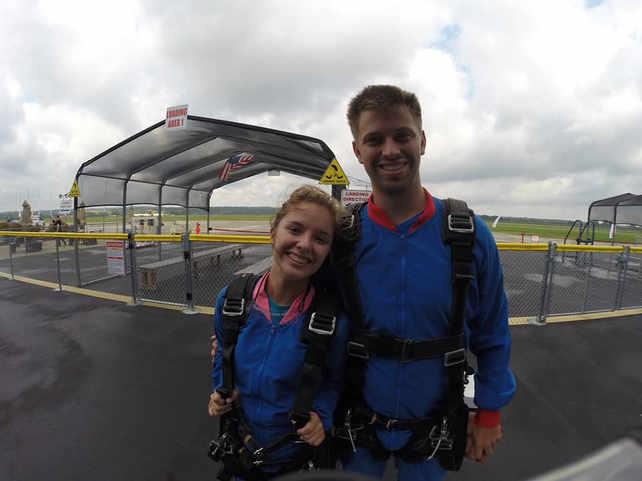 Josh and I skydiving