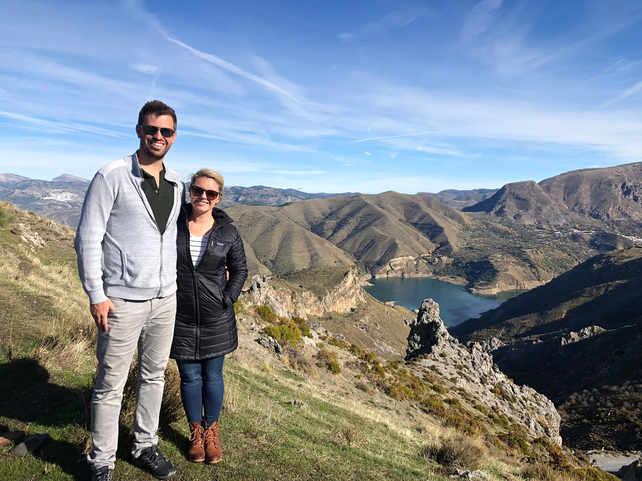 Josh and I in the Sierra Nevada mountain range in Spain