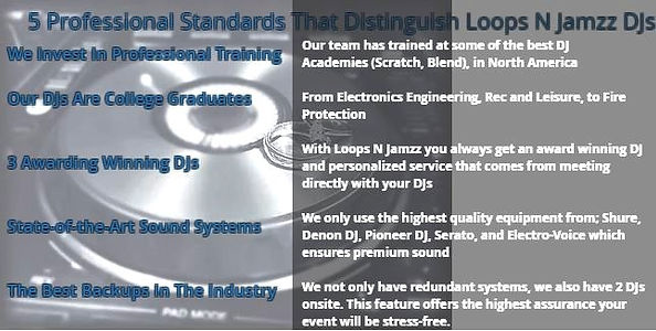 Highest wedding DJ standards in Kitchener, Waterloo, Cambridge, and Stratford