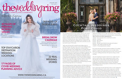 The Wedding Ring Mag 2021 Expert Tips for Stratford, and Kitchener Waterloo Weddings