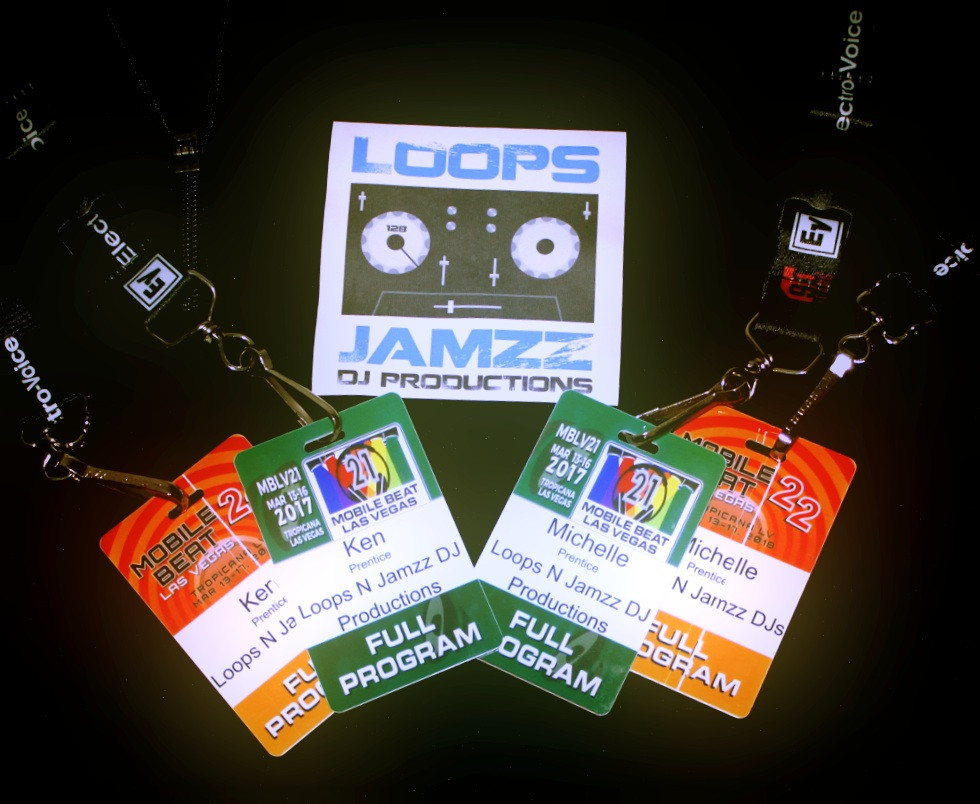 Example of Badges from Professional Conferences and Training Attended by Loops N Jamzz