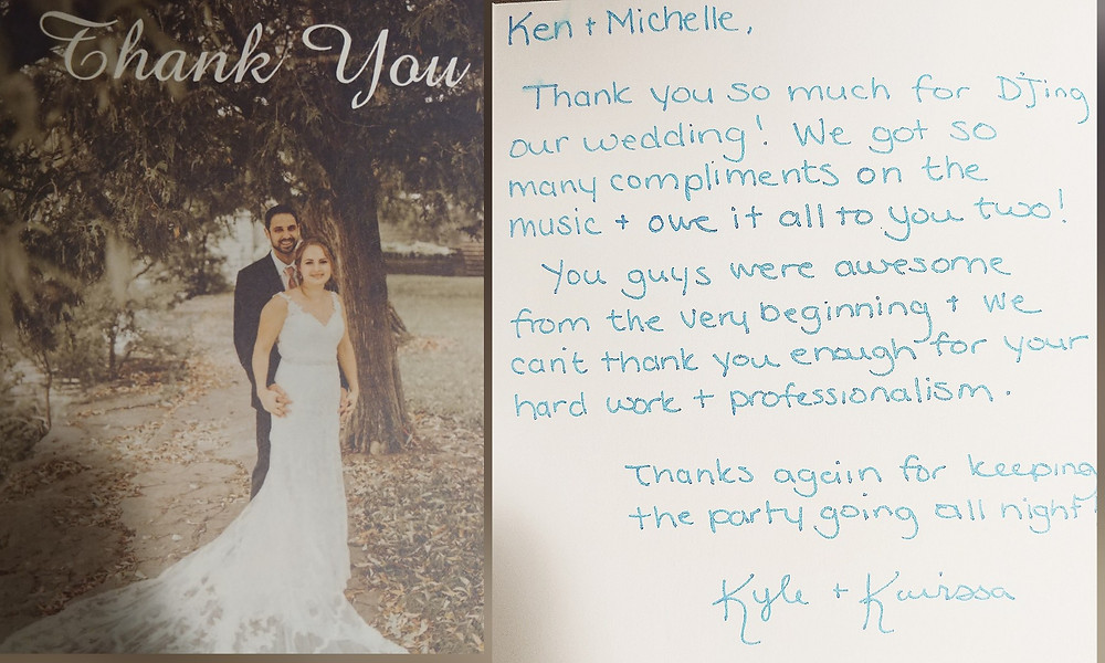 Wedding Reviews the best DJs in Kitchener Waterloo, Stratford, Cambridge and Guelph have reviews from real past brides.