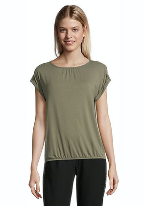 Betty Barclay Ruched Blouse - Dusty Olive