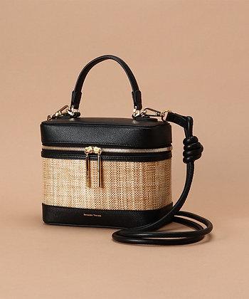 Samantha Thavasa Nadia Panama Vanity Bag - Black