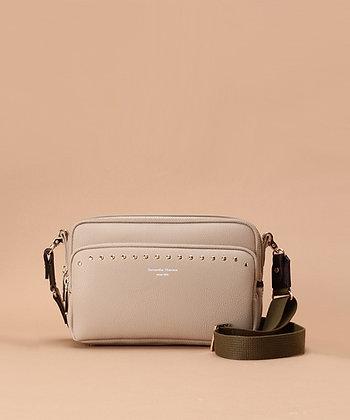 Samantha Thavasa Studs Shoulder Bag - Beige