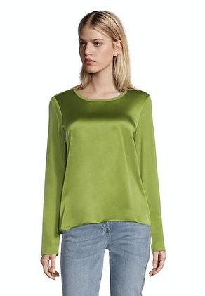Betty Barclay Long Sleeve Satin Blouse - Apple Green