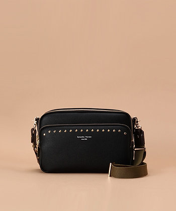 Samantha Thavasa Studs Shoulder Bag - Black
